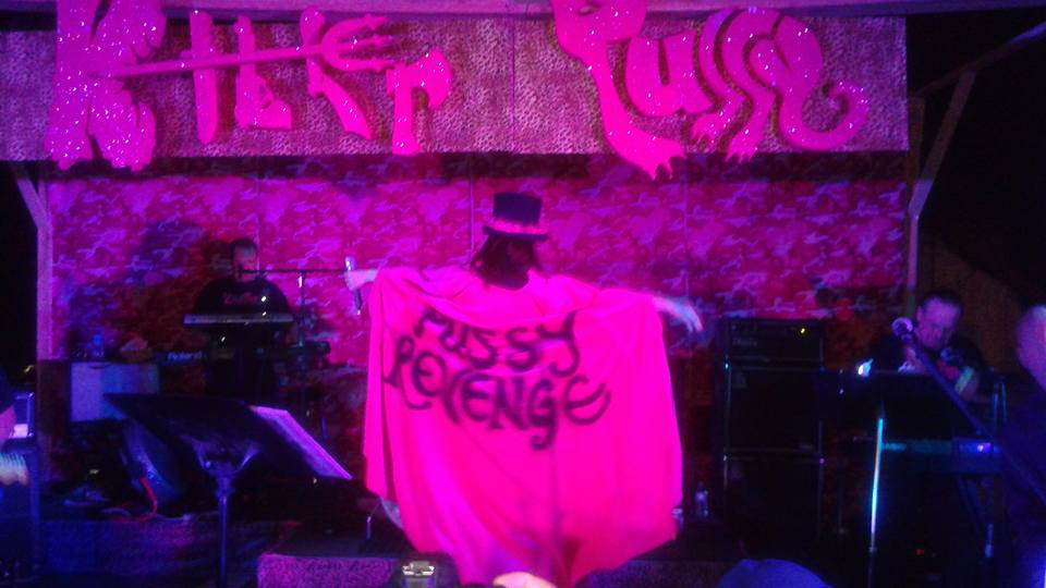 Pussy Revenge Cape with Lucy LaMode on Stage Final Show in 2015