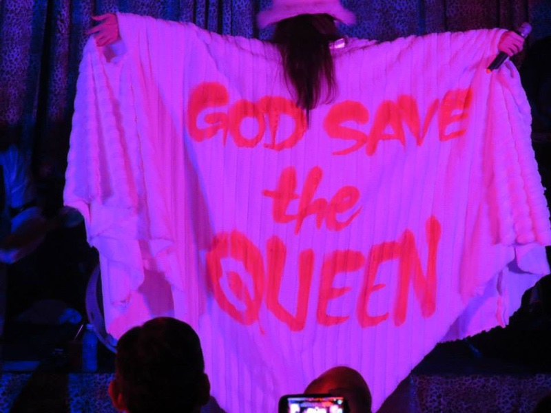God Save the Queen Cape worn by Lucy LaMode