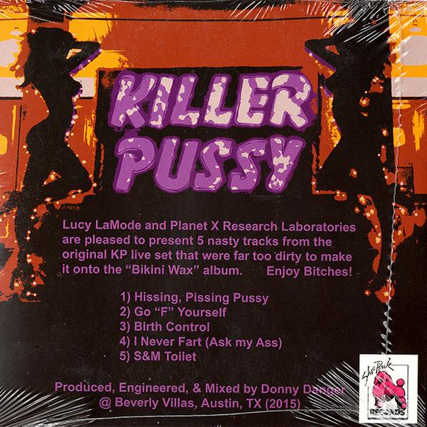 Killer Pussy Hardcore Pussy CD Backside